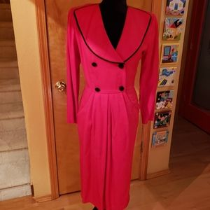Ambria red dress with black edge lapels size 4